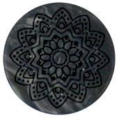 Mandala bloem grijs