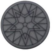 Mandala ster grijs